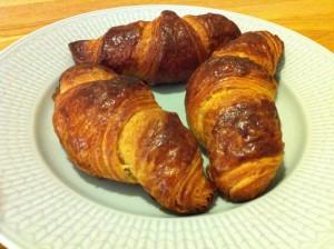 Färdiga croissanter