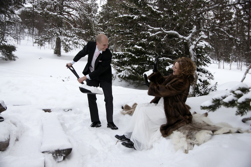 Bröllop - snö