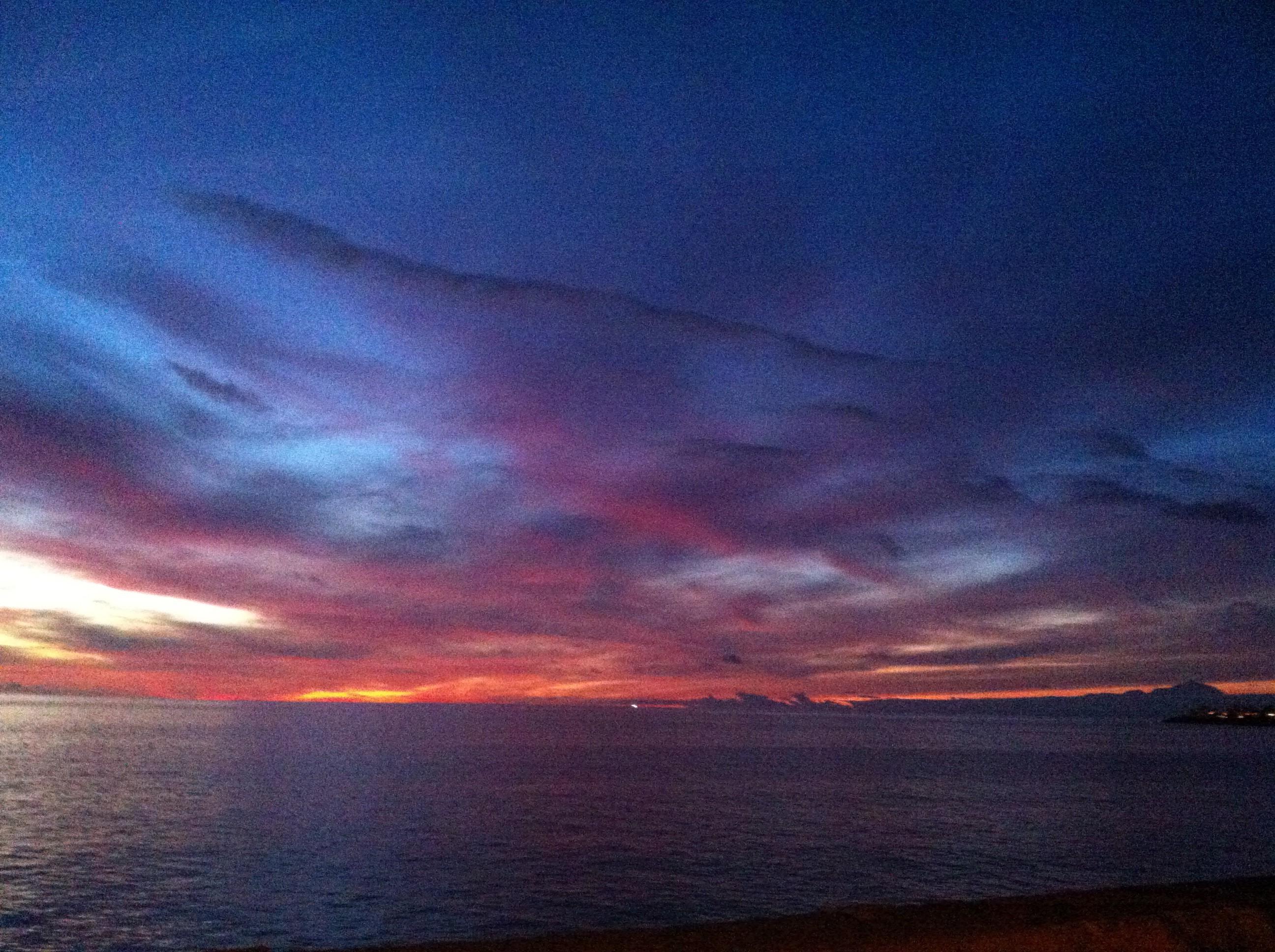 Solnedgång i Arguineguín