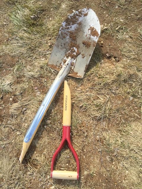 Trasig spade