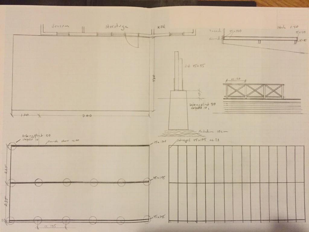 Konstruktionsritning altan