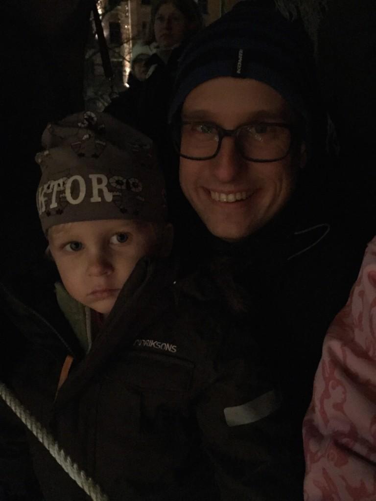 Viktor och Anders Ljusmanifestationen